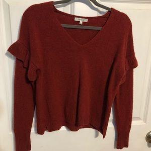Madewell Burnt Orange Merino Wool Sweater